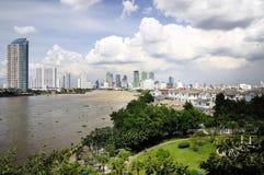 Viste del fiume di Bangkok. Fotografie Stock Libere da Diritti