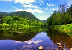 Viste del fiume di Housatonic Immagine Stock