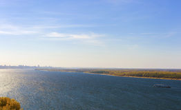 Viste del fiume Volga e della città della samara Fotografia Stock
