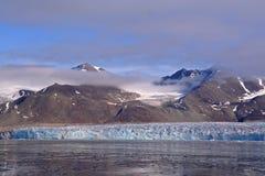 Viste del ghiacciaio intorno al ghiacciaio della Monaco Fotografia Stock