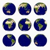 Viste del globo Fotografia Stock