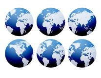 Viste del globo   Fotografia Stock Libera da Diritti