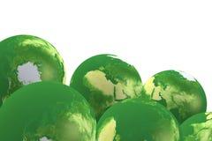 viste del globo di eco 3d Fotografie Stock Libere da Diritti