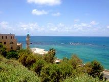 Viste del Mediterraneo in Giaffa, Tel Aviv, Israele Fotografia Stock Libera da Diritti