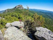 Viste del paesaggio sopra la montagna nc della roccia della tavola fotografie stock libere da diritti