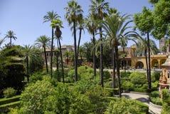 Viste del palazzo di alcazar a Sevilla Fotografie Stock