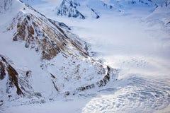 Viste del parco nazionale e della riserva, della montagna e del ghiacciaio di Kluane Immagine Stock Libera da Diritti