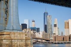 Viste del ponte di NYC Fotografia Stock
