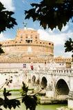 Viste del san Angel Castel, la vecchia residenza di papi Città di Fotografie Stock Libere da Diritti