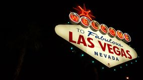 Viste del segno di Las Vegas archivi video
