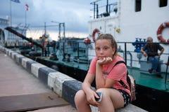 Viste del turista di Batumi di estate di Georgia immagini stock libere da diritti