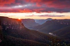 Viste dell'allerta di salto di Govetts della valle di Grose fotografia stock libera da diritti