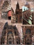 Viste della cattedrale di Strasburgo Immagine Stock