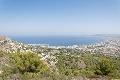 Viste della città di Javea dal massiccio di Montgo. Fotografia Stock Libera da Diritti