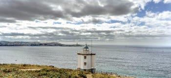 Viste della costa atlantica in La Coruna, Spagna Fotografia Stock