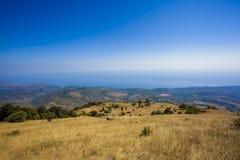 Viste della costa del sud della Crimea Fotografie Stock Libere da Diritti