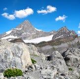 Viste della montagna Zinalrothorn, Svizzera Fotografia Stock Libera da Diritti