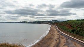 Viste della spiaggia del labirinto di Dawlish in Devon, Regno Unito fotografia stock libera da diritti