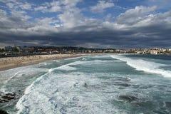Viste della spiaggia di Bondi immagini stock