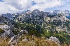 Viste della valle di Krma dal PEC di Debela Fotografia Stock Libera da Diritti