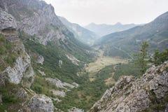 Viste della valle di Saliencia Fotografie Stock Libere da Diritti