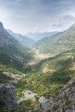Viste della valle di Saliencia, riserva naturale di Somiedo Fotografie Stock Libere da Diritti