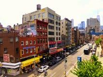 Viste della via di New York Fotografie Stock