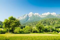 Viste delle dolomia, alpi italiane Fotografia Stock Libera da Diritti