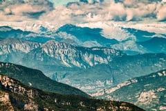 Viste delle dolomia, alpi italiane Immagini Stock Libere da Diritti