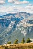 Viste delle dolomia, alpi italiane Fotografie Stock Libere da Diritti