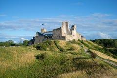 Viste delle rovine del castello medievale dell'ordine livone Pomeriggio augusto Rakvere, Estonia Fotografia Stock Libera da Diritti