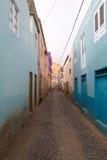 Viste delle vie nella città di Ribeira Brava Immagine Stock