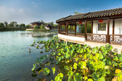 Viste dello stagno di Changshu Shang Lake Park Fotografia Stock