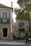 Viste di Alfama, Lisbona Fotografia Stock