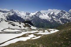 Viste di alta strada alpina del grossglockner Fotografia Stock Libera da Diritti