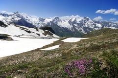 Viste di alta strada alpina del grossglockner Immagini Stock Libere da Diritti