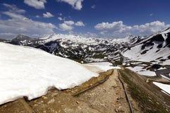 Viste di alta strada alpina del grossglockner Fotografie Stock Libere da Diritti