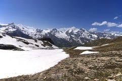 Viste di alta strada alpina del grossglockner in Austria Europa Fotografia Stock