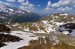 Viste di alta strada alpina del grossglockner in Austria Europa Fotografia Stock Libera da Diritti