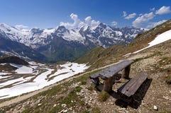 Viste di alta strada alpina del grossglockner in Austria Europa Fotografie Stock Libere da Diritti