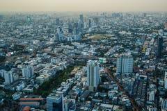 Viste di Bangkok nell'hotel del cielo di Baiyoke Fotografia Stock Libera da Diritti