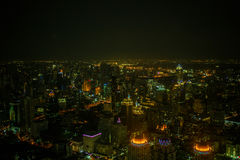 Viste di Bangkok nell'hotel del cielo di Baiyoke Immagini Stock