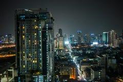 Viste di Bangkok nell'hotel del cielo di Baiyoke Fotografia Stock