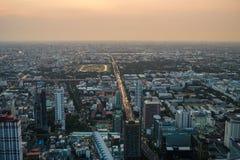 Viste di Bangkok nell'hotel del cielo di Baiyoke Immagine Stock Libera da Diritti