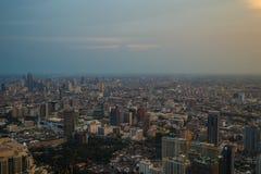 Viste di Bangkok nell'hotel del cielo di Baiyoke Immagine Stock