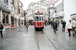 Viste di Costantinopoli Vecchio calibratore per allineamento rosso Fotografia Stock Libera da Diritti