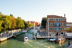 Viste di Grand Canal a Venezia, Italia immagine stock