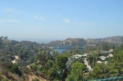 Viste di Los Angeles dall'area di Griffith Observatory In The South della montagna di Hollywood 7 luglio 2017 fotografia stock