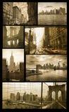 Viste di Manhattan su grunge Immagine Stock Libera da Diritti