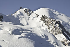 Viste di Mont-Blanc Fotografie Stock